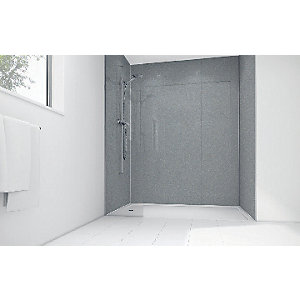Wickes Silver Diamond Acrylic 900 x 900mm 3 Sided Shower Panel Kit