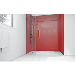 Wickes Crimson Acrylic 900x900mm 3 sided Shower Panel Kit