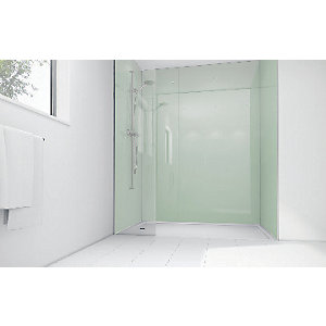 Wickes Mint Acrylic 900x900mm 3 sided Shower Panel Kit