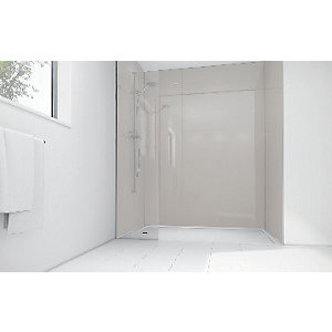Wickes Sugar Acrylic 900 x 900mm 3 Sided Shower Panel Kit