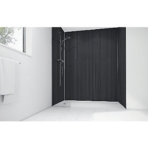 Wickes Pinstripe Gloss LAMINATE900 x 900mm 3 Sided Shower Panel Kit