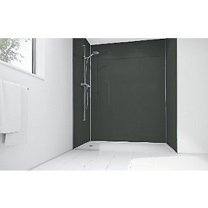 Wickes Black Diamond Acrylic 1200 x 900mm 2 Sided Shower Panel Kit