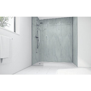 Wickes Egyptian Laminate 1200x900mm 2 sided Shower Panel Kit