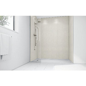 Wickes Pearl Gloss Laminate 1200x900mm 2 sided Shower Panel Kit