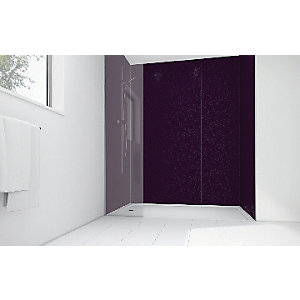 Wickes Patterned Violet Laminate1200x900mm 3 sided Shower Panel Kit