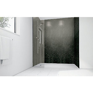 Wickes Lead Laminate 1700x900mm 2 sided Shower Panel Kit