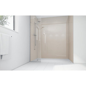 Wickes Latte Acrylic 900x900mm 3 sided Shower Panel Kit