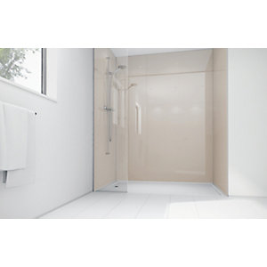 Wickes Latte Acrylic 1200x900mm 2 sided Shower Panel Kit