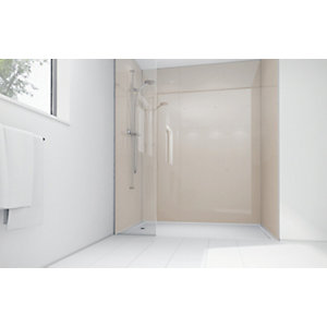Wickes Latte Acrylic 1200x900mm 3 sided Shower Panel Kit