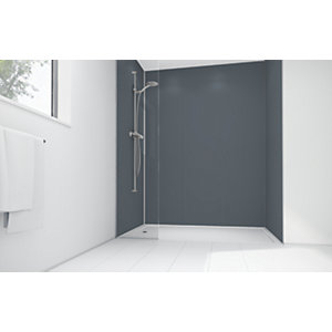 Wickes Cadet Matte Acrylic 1200 x 900 2 Sided Shower Panel Kit