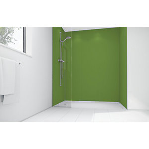 Wickes Forest Green Matte Acrylic 1700 x 900 3 Sided Shower Panel Kit