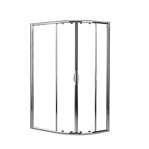 Novellini LUNESR80120-1K Lunes Clear Glass Chrome