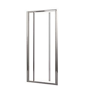 Novellini LUNESS90-1K Lunes Clear Glass Chrome