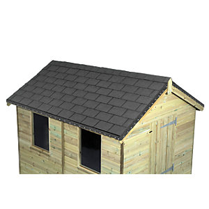 WICKES GREY ROOFING SHINGLES 2M2 PACK 14
