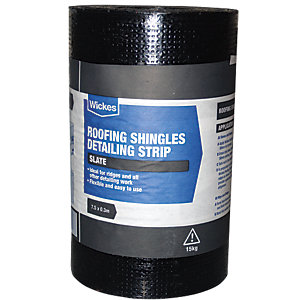 WICKES DETAILING STRIP FOR GREY ROOFING SHINGLES 0.3X7.5M