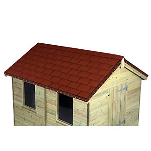 Wickes Red Roofing Shingles 2m2 Pack 14