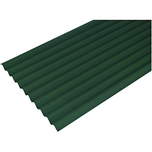 Green Corrugated Bitumen Sheet 950x2000mm