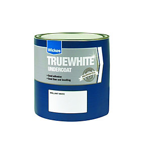 Wickes Truewhite Undercoat Paint Brilliant White 1L