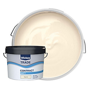 Wickes Contract Matt Emulsion Paint- Magnolia 10L