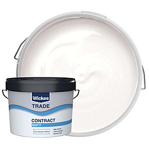 Wickes Contract Matt Emulsion Paint White 10L