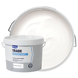 Wickes Contract Matt Emulsion Paint White 15L