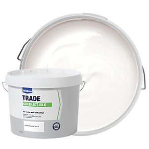 Wickes Contract Silk Emulsion Paint Brilliant White 15L