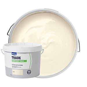 Wickes Contract Silk Emulsion Paint Emulsion Paint Ivory 10L