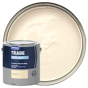 Wickes Trade Vinyl Matt Emulsion Paint Magnolia 2.5L
