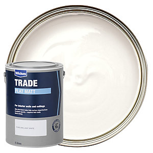 Wickes Trade Flat Matt Emulsion Paint Brilliant White 5L