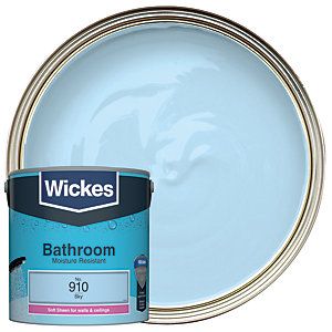 Wickes Bathroom Soft Sheen Sky 2.5L