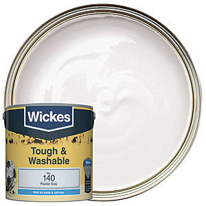 Wickes Durable Matt Powder Grey 2.5L