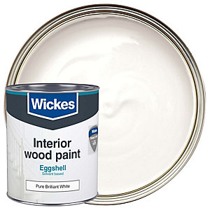 Wickes Eggshell Paint Brilliant White 750ml