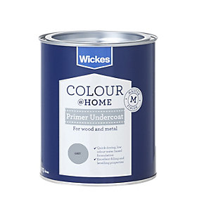 Wickes Water Based Primer Undercoat Grey 750ml