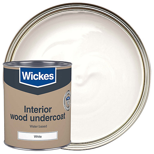 Wickes water based primer undercoat white 750ml for Exterior wood water based primer