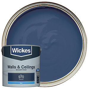 Wickes Colour @ Home Vinyl Matt Emulsion Paint- Admiral 2.5L