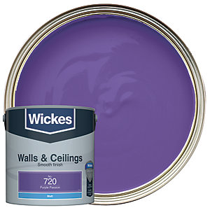 Wickes Colour @ Home Vinyl Matt Emulsion Paint- Purple Passion 2.5L