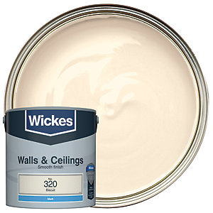 Wickes Colour @ Home Vinyl Matt Emulsion Paint BISCUIT2.5L