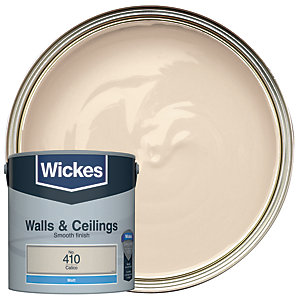 Wickes Colour @ Home Vinyl Matt Emulsion Paint- Calico 2.5L