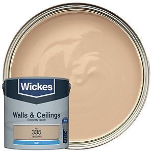 Wickes Colour @ Home Vinyl Matt Emulsion Paint Cappuccino 2.5L