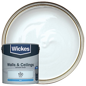 Wickes Colour @ Home Vinyl Matt Emulsion Paint Cloud 2.5L