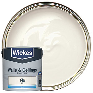 Wickes Colour @ Home Vinyl Matt Emulsion Paint- Lily 2.5L