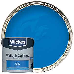 Wickes Colour @ Home Vinyl Matt Emulsion Paint- Brilliant Blue 2.5L