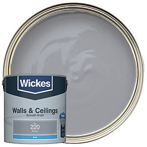 Wickes Colour @ Home Vinyl Matt Emulsion Paint- Pewter2.5L