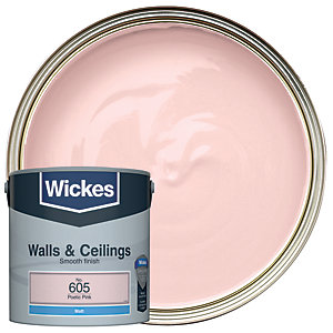 Wickes Colour @ Home Vinyl Matt Emulsion Paint- Poetic Pink 2.5L
