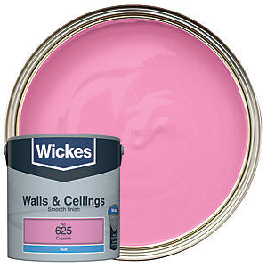 Wickes Colour @ Home Vinyl Matt Emulsion Paint- Cupcake 2.5L