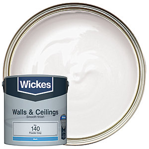 Wickes Colour @ Home Vinyl Matt Emulsion Paint Powder Grey 2.5L