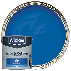 Wickes Colour @ Home Vinyl Matt Emulsion Paint Royal Sapphire 2.5L