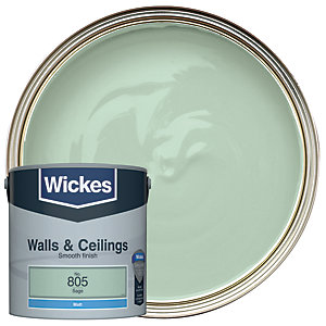 Wickes Colour @ Home Vinyl Matt Emulsion Paint- Sage 2.5L