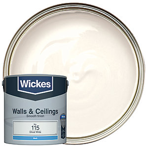 Wickes Colour @ Home Vinyl Matt Emulsion Paint- Ghost White 2.5L