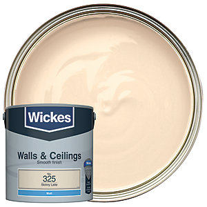 Wickes Colour @ Home Vinyl Matt Emulsion Paint Skinny Latte 2.5L